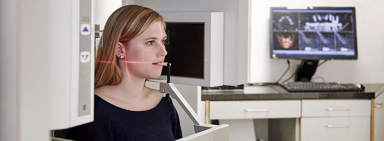 Modernste strahlungsarme, dreidimensionale Röntgentechnik.