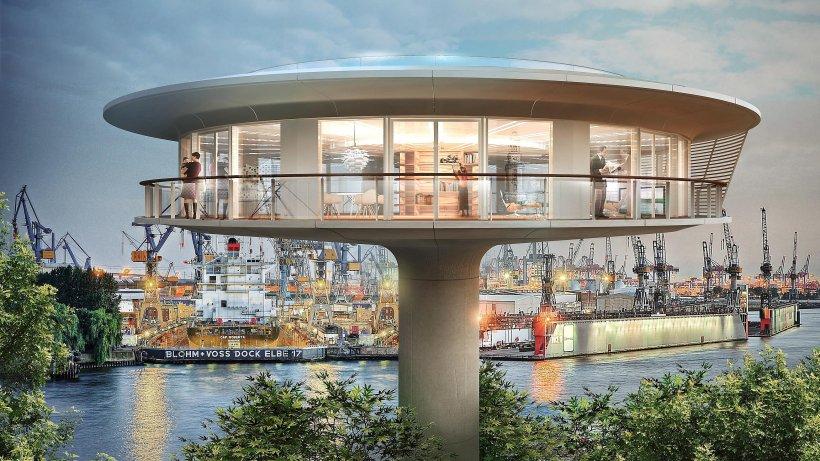 hamburgs erster wohn leuchtturm wird in der hafencity. Black Bedroom Furniture Sets. Home Design Ideas