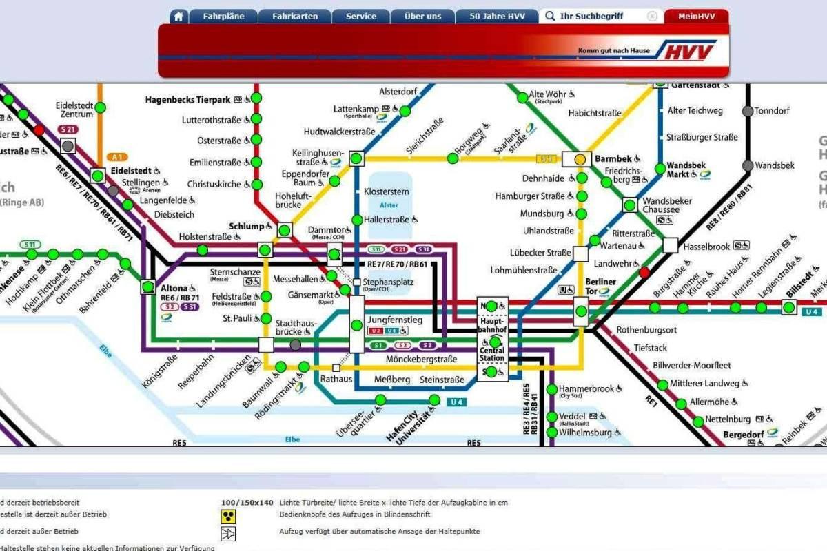 Hvv Karte Ringe.Hvv Bietet Neue Live Auskunft Zu Allen Aufzügen Hamburg Aktuelle