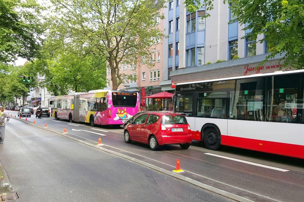 busbeschleunigung bringt gut fünf minuten auf der linie 5 - hamburg