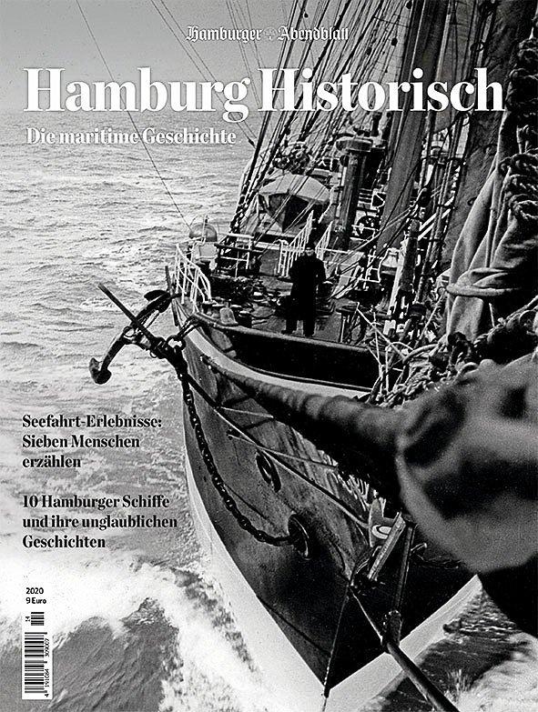 """""""Hamburg Historisch maritim"""" (108 Seiten) als Broschüre gebunden und kostet  9 Euro. Abonnenten erhalten es zum Treuepreis von 7 Euro."""