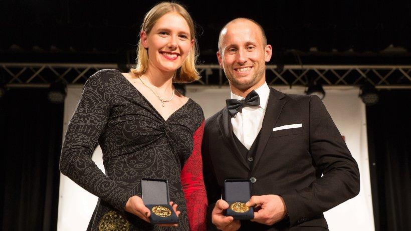 Kira Kubbe und Alexander Vogt wurden für ihre herausragenden sportlichen Leistungen geehrt