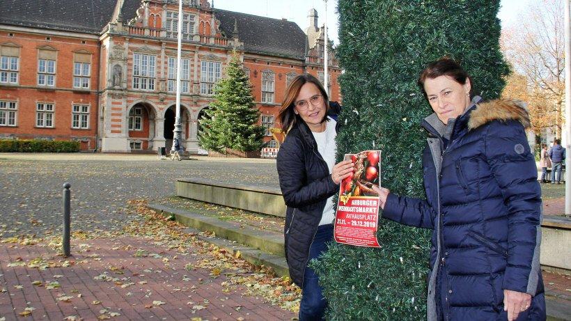 Bald öffnet der Weihnachtsmarkt - Hamburger Abendblatt