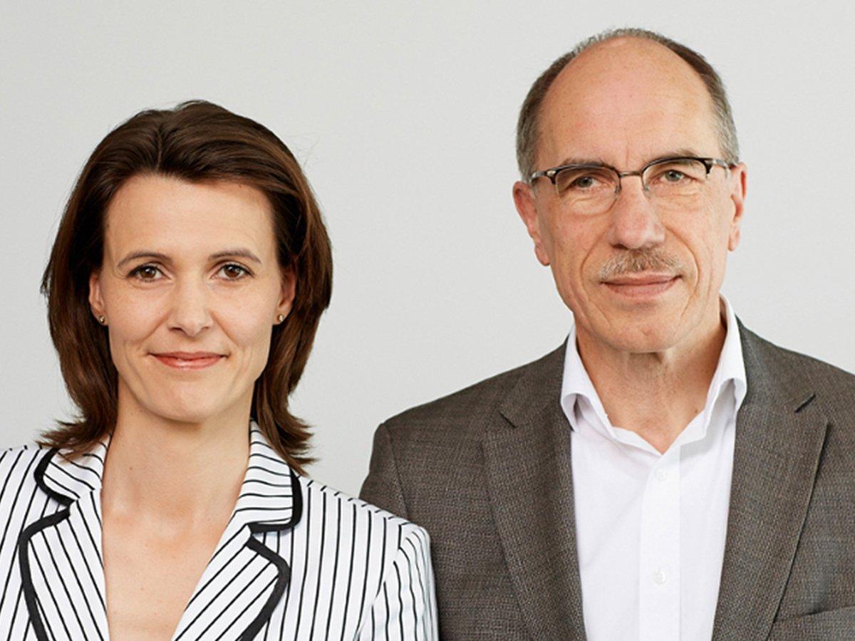 Siegmund Chychla, Vorsitzender des Mietervereins zu Hamburg, und seine Stellvertreterin Marielle Eifler.