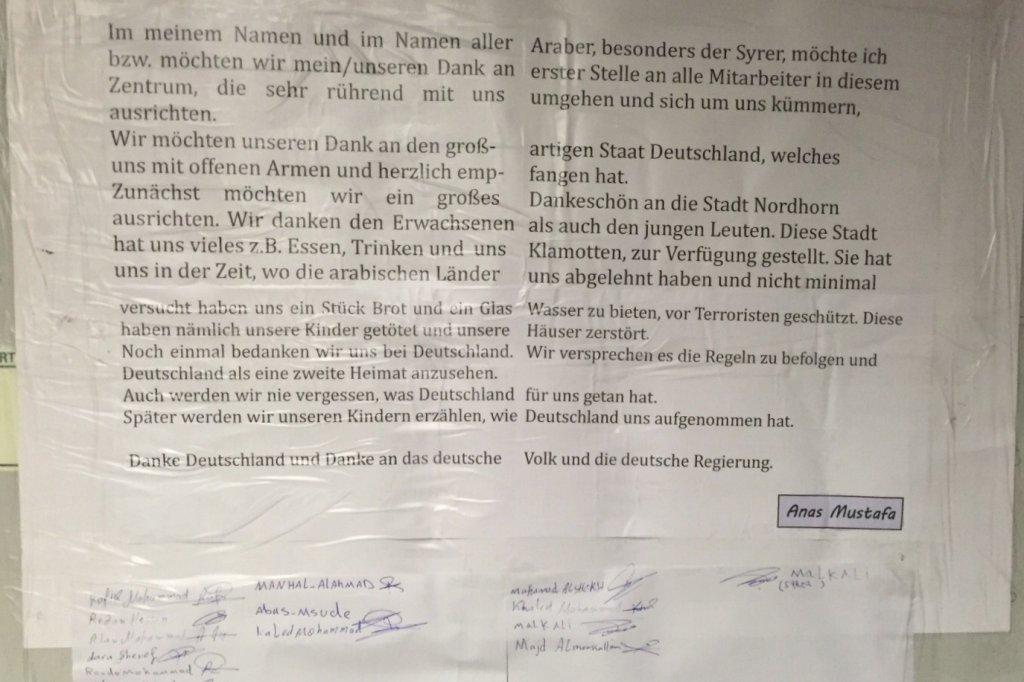Flüchtling schreibt bewegenden Dankesbrief an Deutschland ...