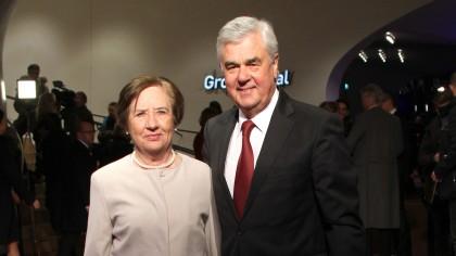 Frank Horch und seine Ehefrau bei der Eröffnung der Elbphilharmonie im Januar 2017