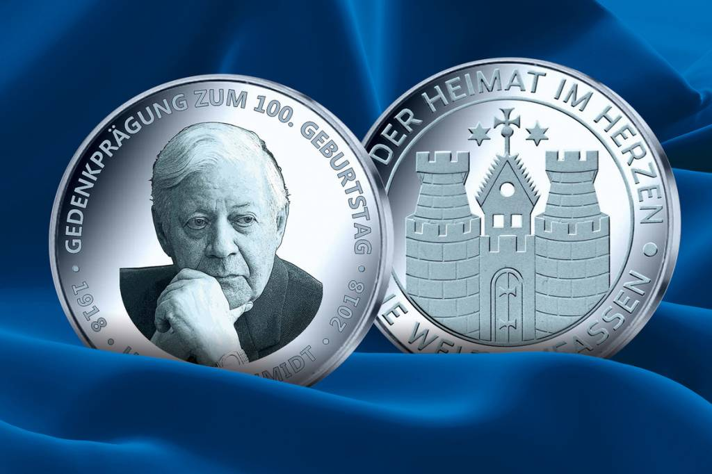 100 Jahre Helmut Schmidt Silbermedaille Jetzt Erhältlich Hamburg