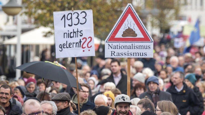 1500 demonstrieren gegen Neonazis in Bad Segeberg - Hamburger Abendblatt