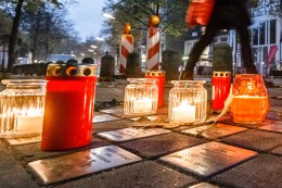 """Gedenken: """"Grindel leuchtet"""": Anwohner erinnern an Novemberpogrome"""