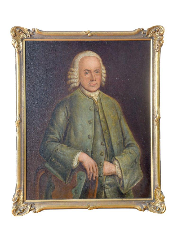 Das Ölgemälde zeigt Anton Schröder, den in Verden an der Aller geborenen Stammvater der Familie. In Quakenbrück wirkte er als Kaufmann.