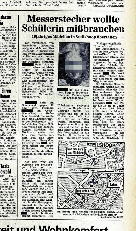So berichtete das Abendblatt im November 1980 über den Fall.