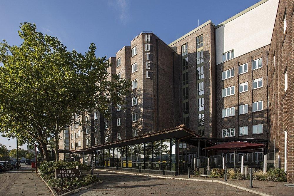 Außenansicht des Best Western Plus Hotels - hanseatisch im Klinkerbau.