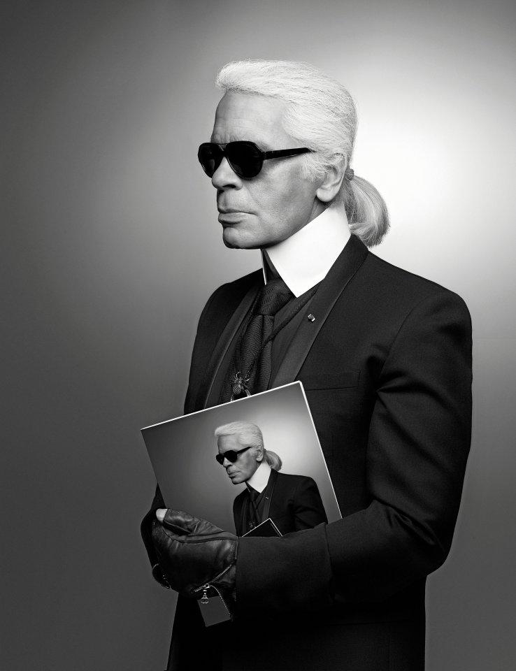 Kunstfigur Lagerfeld: Eins der vielen Selbstporträts stammt von 2013.
