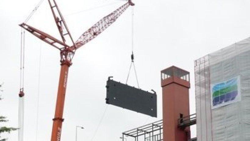 26 tonnen schwere tore f r das schiffshebewerk l neburg hamburger abendblatt. Black Bedroom Furniture Sets. Home Design Ideas