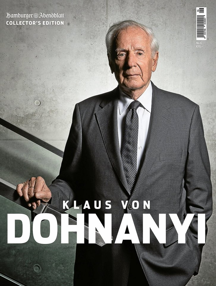 Jeden Freitag beantwortet Klaus von Dohnanyi aktuelle Fragen. Neu im Handel ist das Magazin über sein Leben.