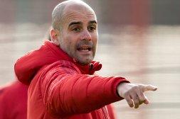 Trainer Pep Guardiola wirkte gereizt