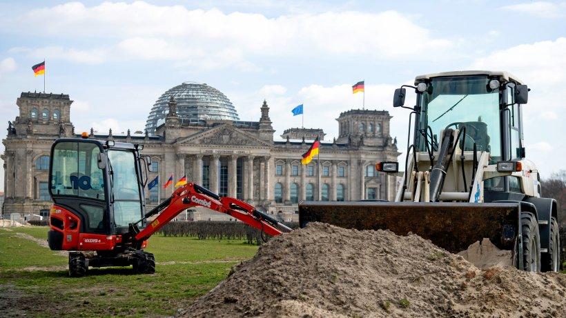 Bundestag Graben
