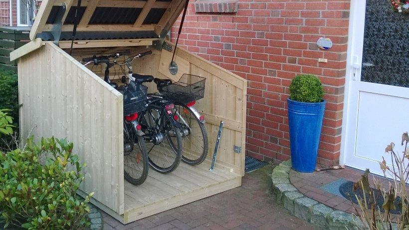 schicke schuppen mini garagen sch tzen vor fahrrad dieben. Black Bedroom Furniture Sets. Home Design Ideas