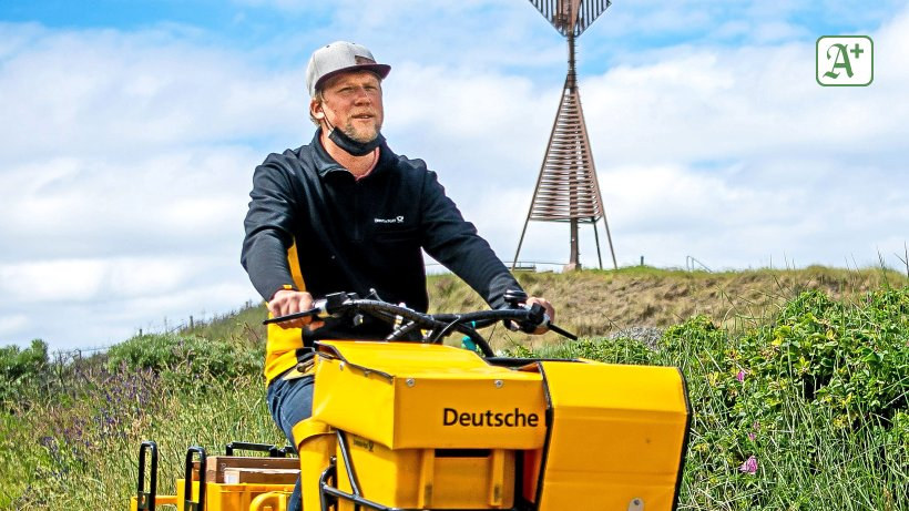 Nordsee: So arbeitet die Post auf der Insel Baltrum