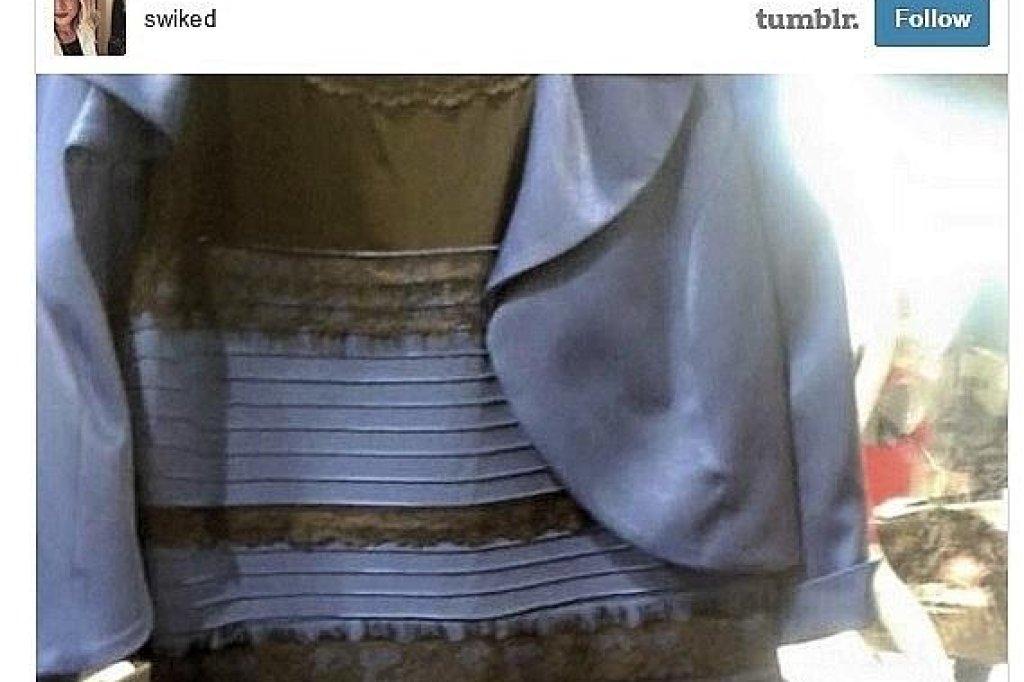 Kleid blau oder gold weib