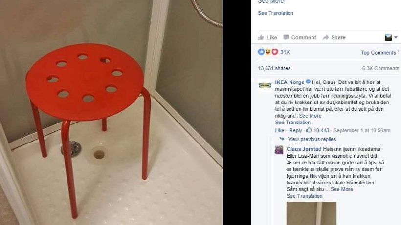 """Strandliege ikea  Mann klemmt mit seinem Hoden in Ikea-Hocker """"Marius"""" fest - Aus ..."""