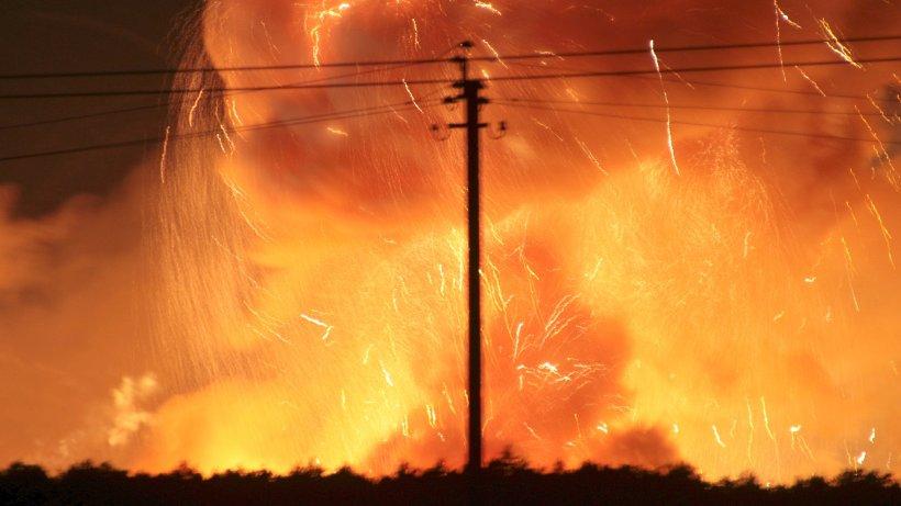 Vinnitsa gr tes waffendepot der ukraine ist in brand for Depot bergedorf
