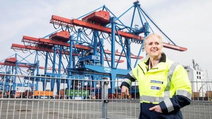 Hamburger Hafen: Die HHLA-Vorstandsvorsitzende Angela Titzrath setzt auf mehr Effizienz.