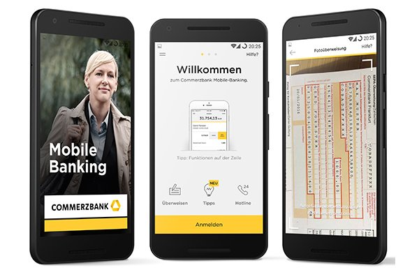 Das Mobile Banking der Commerzbank als Antwort auf den Trend der Digitalisierung.