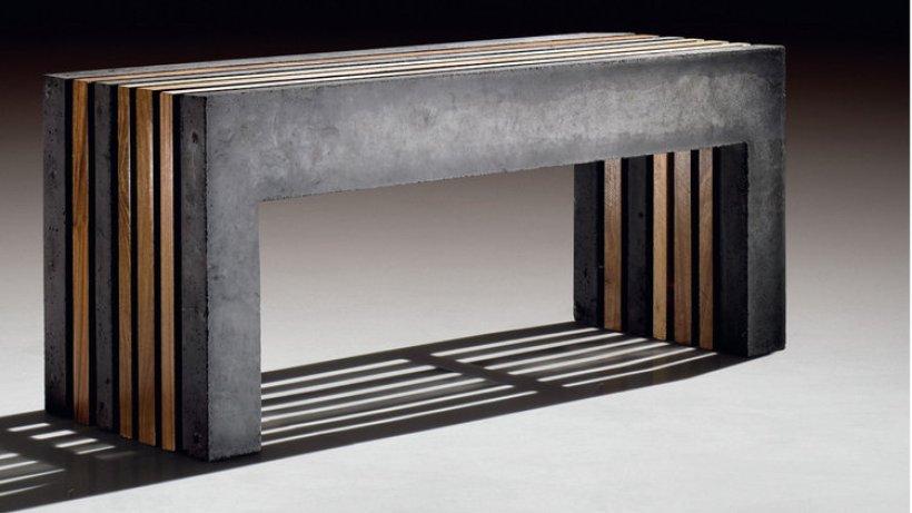 m bel aus beton auf die leichte bank wohnen hamburger. Black Bedroom Furniture Sets. Home Design Ideas