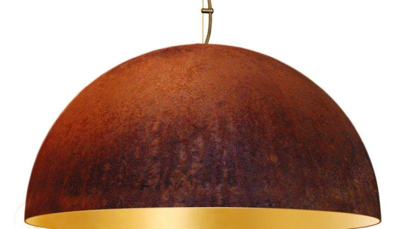 Uriger Look Bolich Fabriklampe Mit Echter Rost Patina: Glas Pendelleuchte Modern